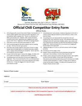 ChiliFest Competitor Entry form blank 2019